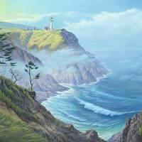 """North Head, Washington"" by jamesniehuesmaps"