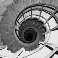 Spiral Staircase at the Arc Art Prints & Posters by Donna Corless