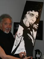 Tom Jones Autographed painting