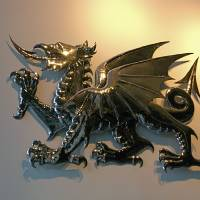 """Welsh Dragon"" by ByronMorrisArt"