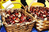 Baskets of chestnuts