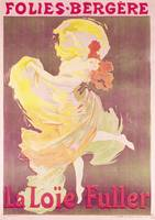 Loie Fuller at Folies Bergeres poster by Cheret