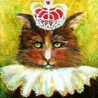 Royal Puss Art Prints & Posters by ConstanceV