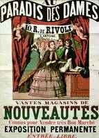 Poster advertising 'Au Paradis des Dames'