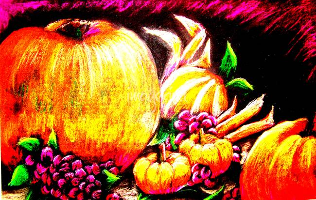 Genetically Modified Pumpkins )with Pastels(
