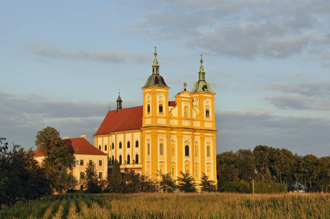 Baroque Church in Dub nad Moravou, Czech Republic