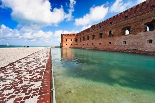 Moat and Walls of Fort Jefferson, Dry Tortugas Nat