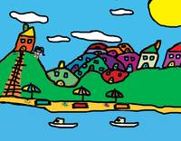 Summer Town, by Jessica Age 7