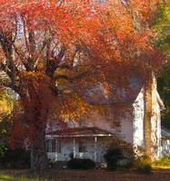 old country house in fall