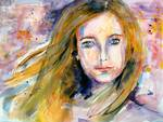 16 Going on 30 Watercolor by Ginette