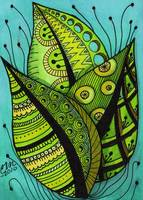 Summer Leaves - Zentangle Style