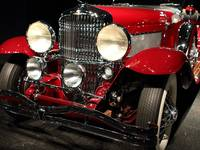 Red Duesenberg Grille View