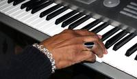 Session Photo 1 Keyboard and Hand by Ginette