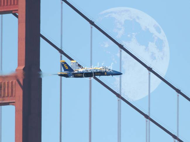 Blue Angels Golden Gate and Moon