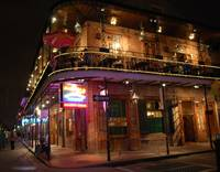 Nightime in old building in New Orleans