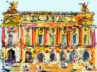 Opera Garnier Paris Ink & Mouse Painting