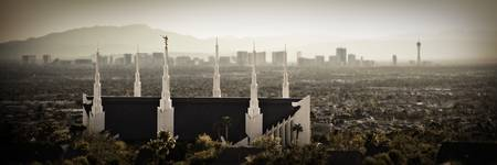 LDS Las Vegas Temple Skyline Color