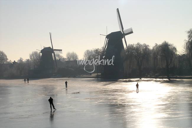 Ice skating by the windmills 1