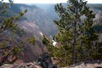 Yellowstone grandcanyon trail over look