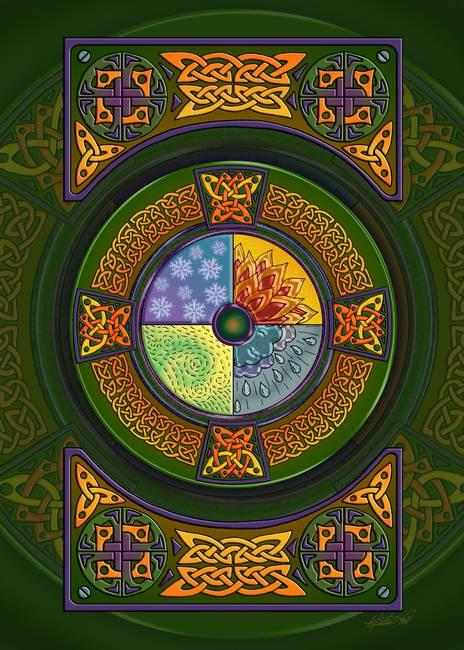 Celtic Art Print The Shining Path 33x23. Fine Art Print   Etsy   Celtic Fine Art Prints