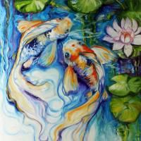 KOI KOI & LILY by Marcia Baldwin