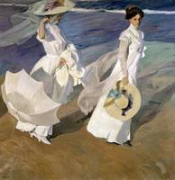 Strolling along the Seashore by Sorolla