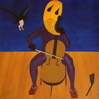 Crow Clown Assaulting Autoanimated Cellist