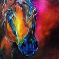 ALLURE ARABIAN EQUINE ABSTRACT by Marcia Baldwin