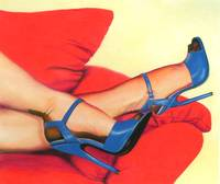Blue Heels, Red Couch