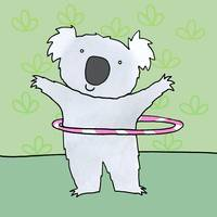 koala with a Hula Hoop