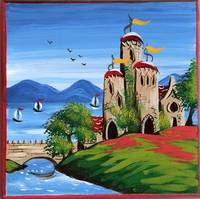 Folk Art Castle By Jane Moss