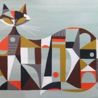"""""""Cubist Cat"""" by CZMART"""