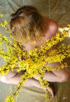 Nude Woman with Forsythia