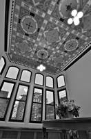 Crowell Hall Lobby B&W