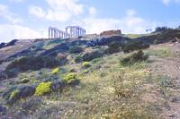 Below the Temple of Poseidon, Sounion, Greece by Priscilla Turner