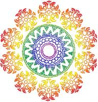 Rainbow Celtic Sun