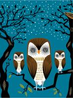 Three Lazy Owls - Limited Edition Print