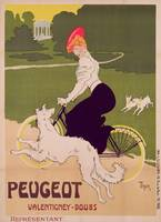Poster advertising Peugeot bicycles
