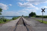 Old RailroadTracks by the Lake