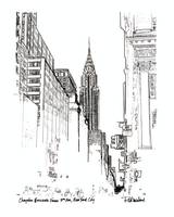 Chrysler Building From 5th Avenue, New York Art