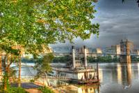 Riverboat Downtown Scene