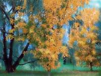 Fall Tree Art Print, Fall Grove, Autumn Trees,