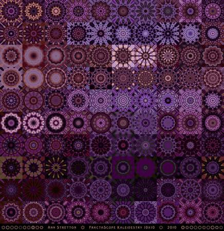Fractascope Kaleidestry 10x10 by Ann Stretton