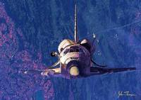 Space shuttle in orbit