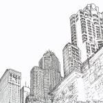 Chicago Skyline, Chicago Art By Riccoboni by RD Riccoboni