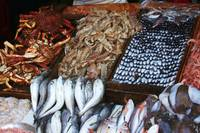 Fish stall at market
