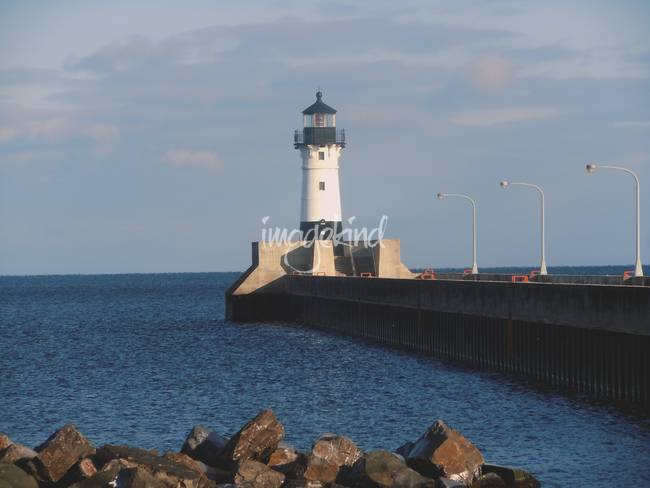 Lighthouse Duluth Minnesota on Lake Superior