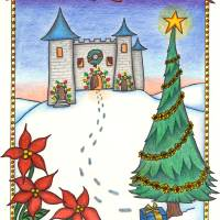 Christmas Castle Art Prints & Posters by Robyn Bellospirito