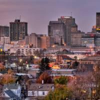 Dayton Skyline in November by Jim Crotty