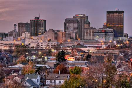 Dayton Skyline in November by Jim Crotty
